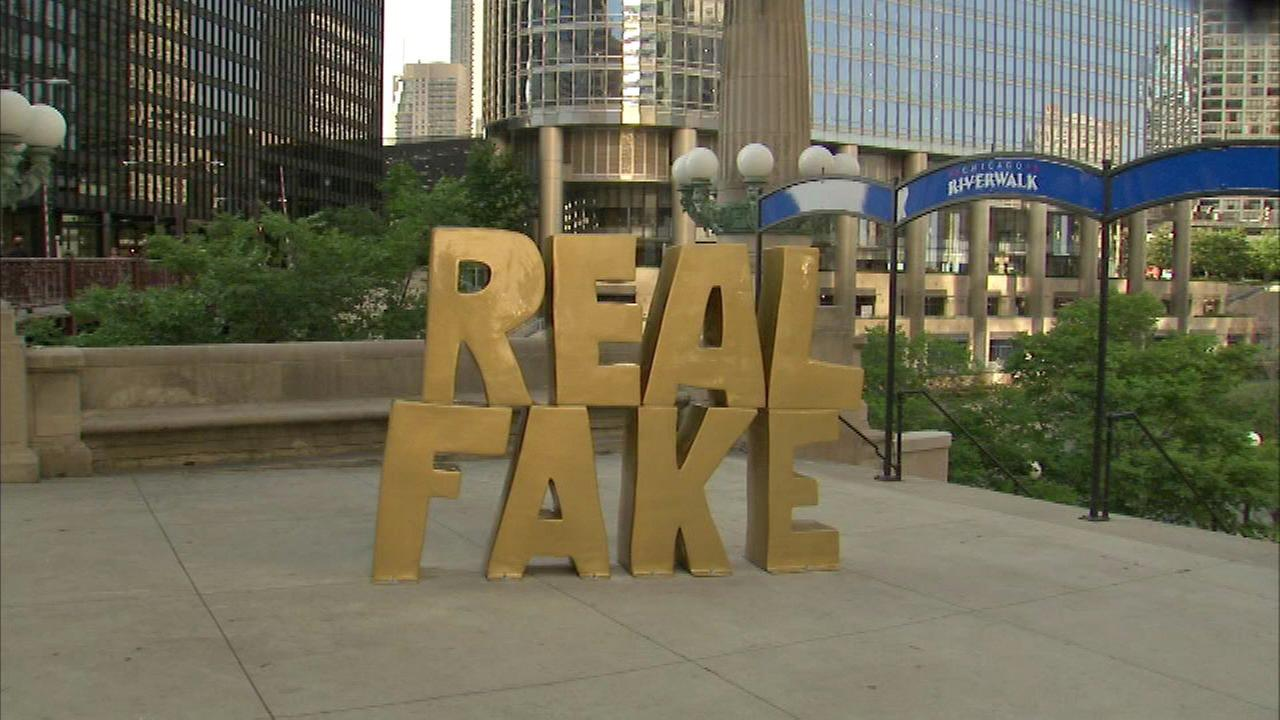 'Real Fake' statue installed in front of Trump Tower