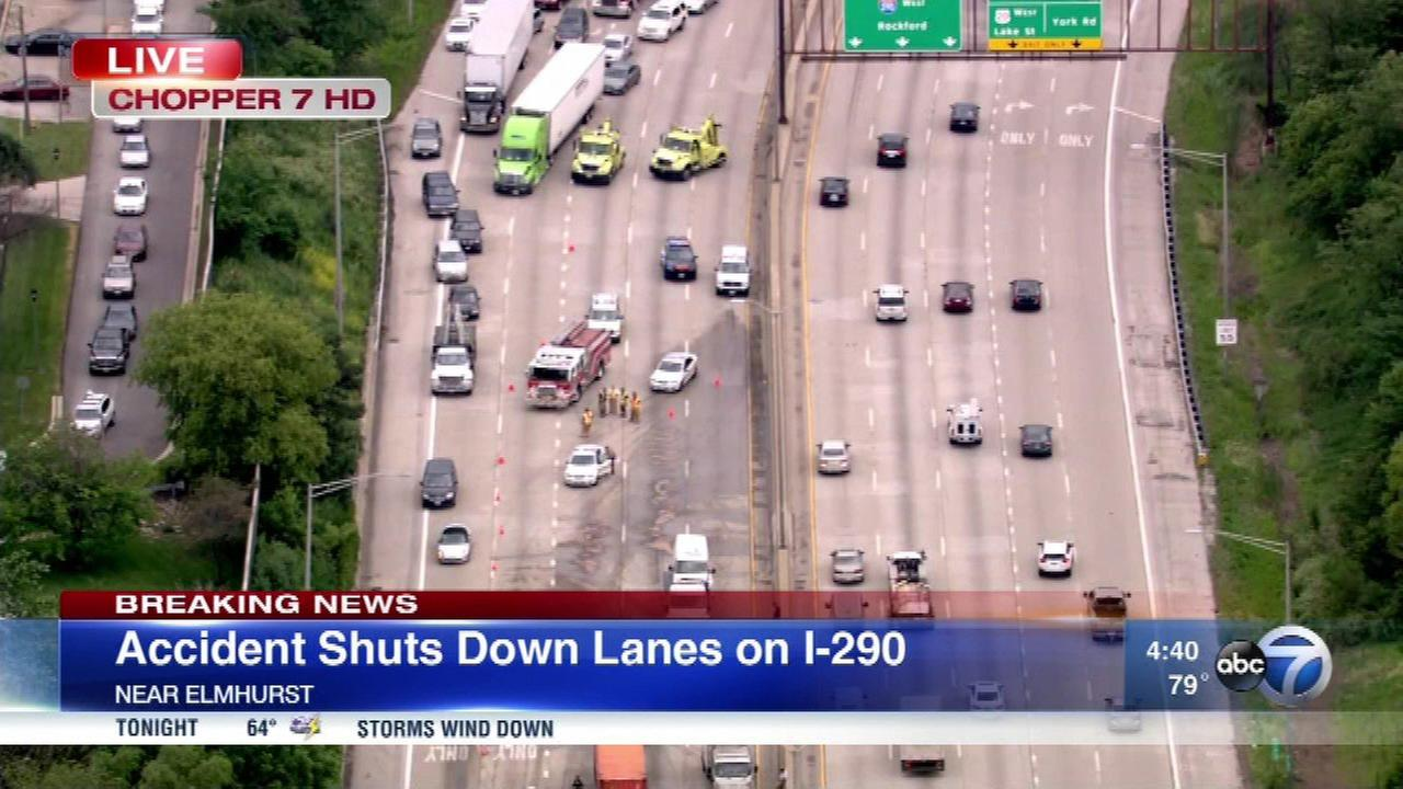 IB I-290 reopens in Elmhurst after 4-vehicle crash