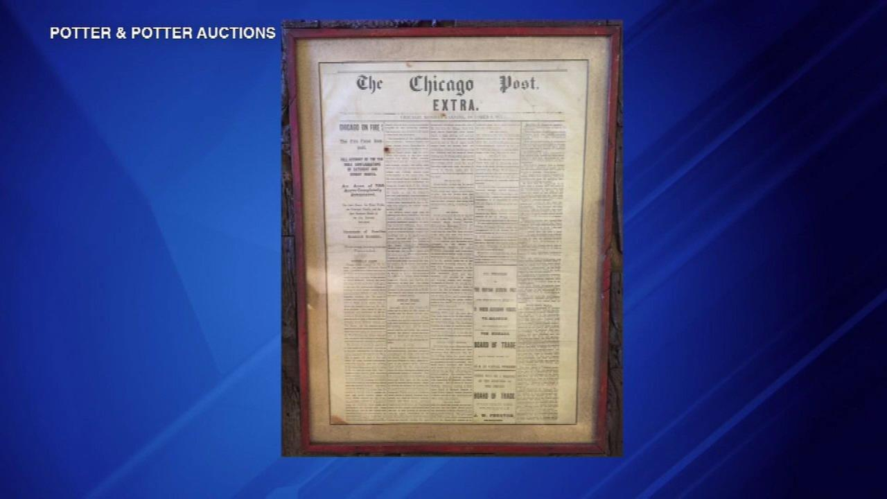 Rare Chicago Fire items to be auctioned