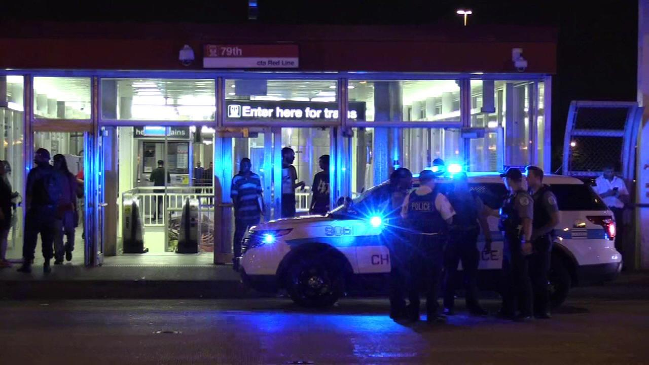 CTA Red Line rider shot by BB or pellet gun at 79th Street station