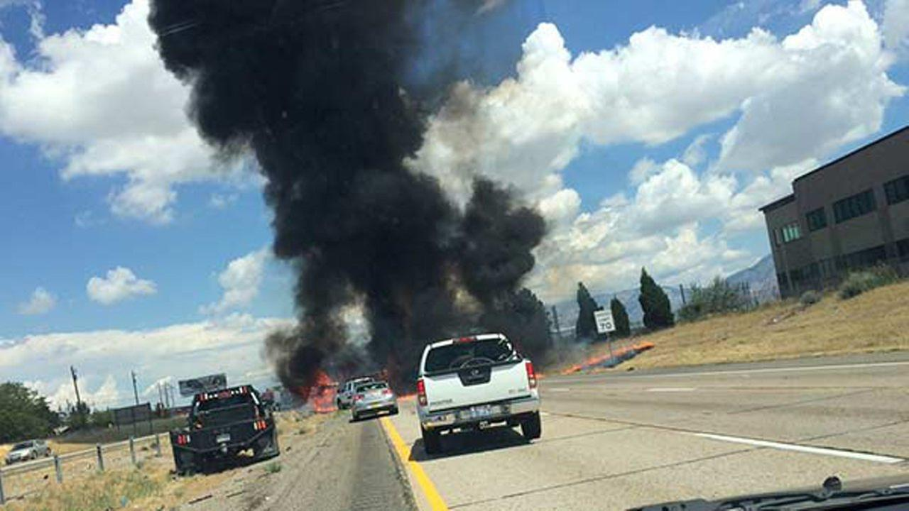 Four people were killed Wednesday after a small plane crashed on a highway in Riverdale, Utah.