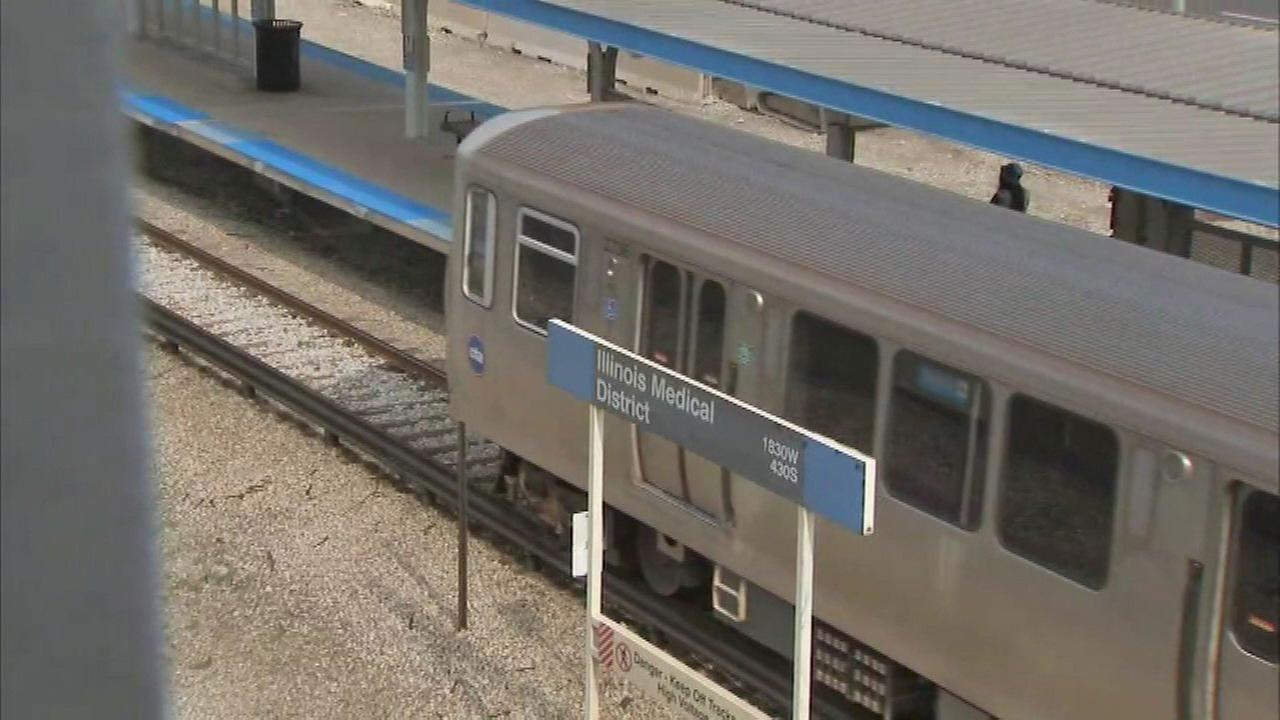 Baby falls from stroller at CTA Blue Line station