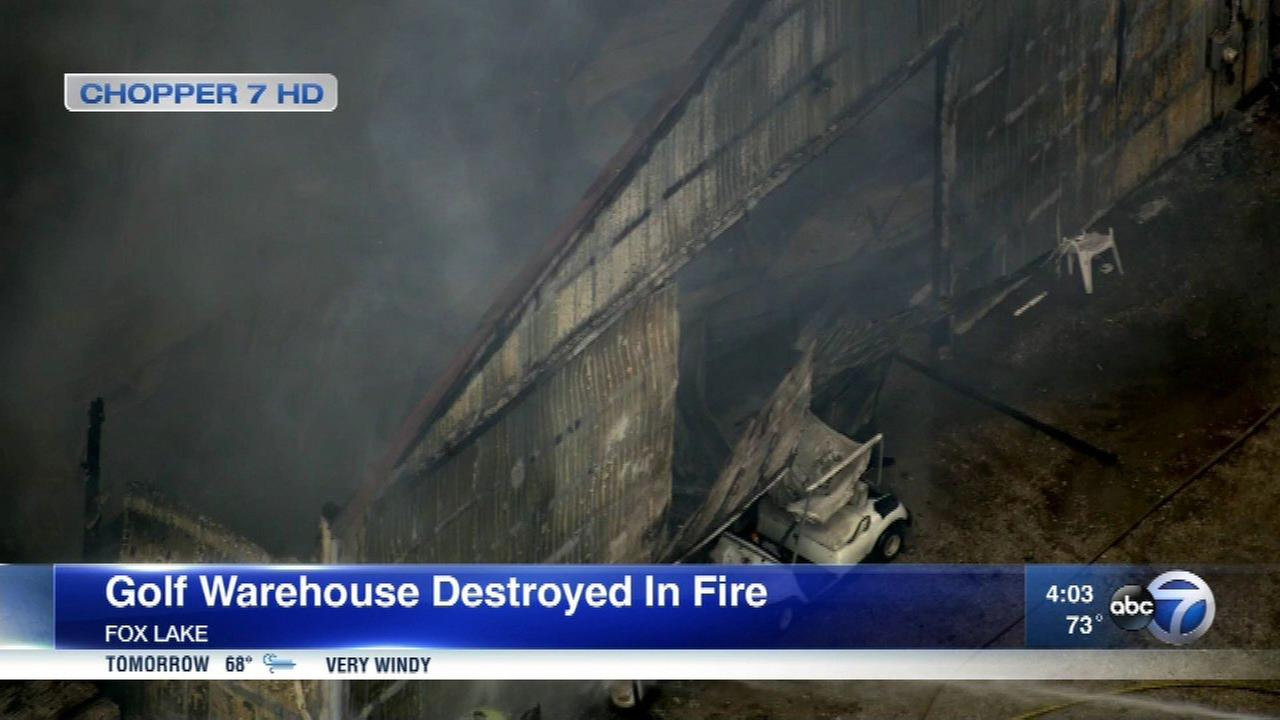 Golf warehouse destroyed in Fox Lake fire