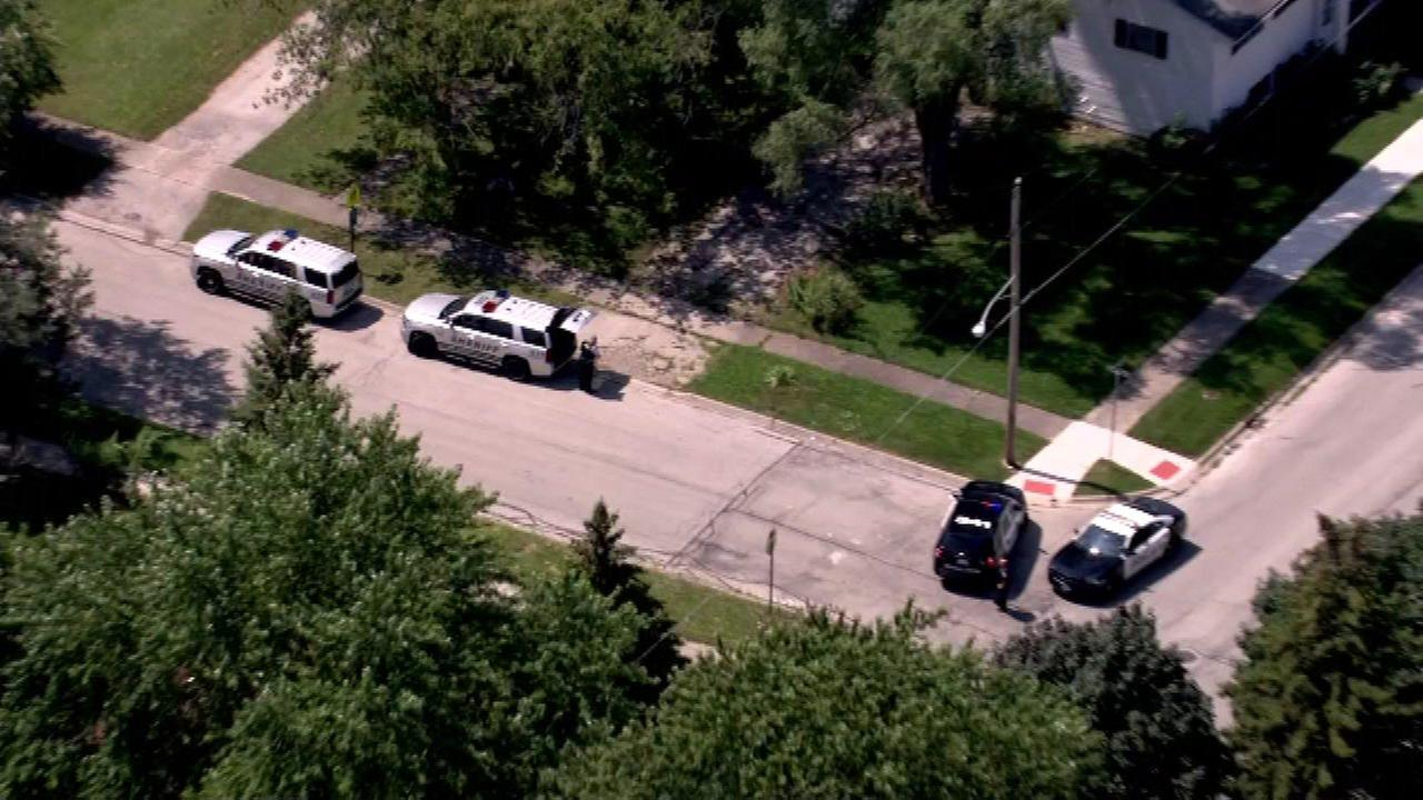 Chopper 7 HD was over the scene of the shooting Wednesday afternoon in north suburban Zion.