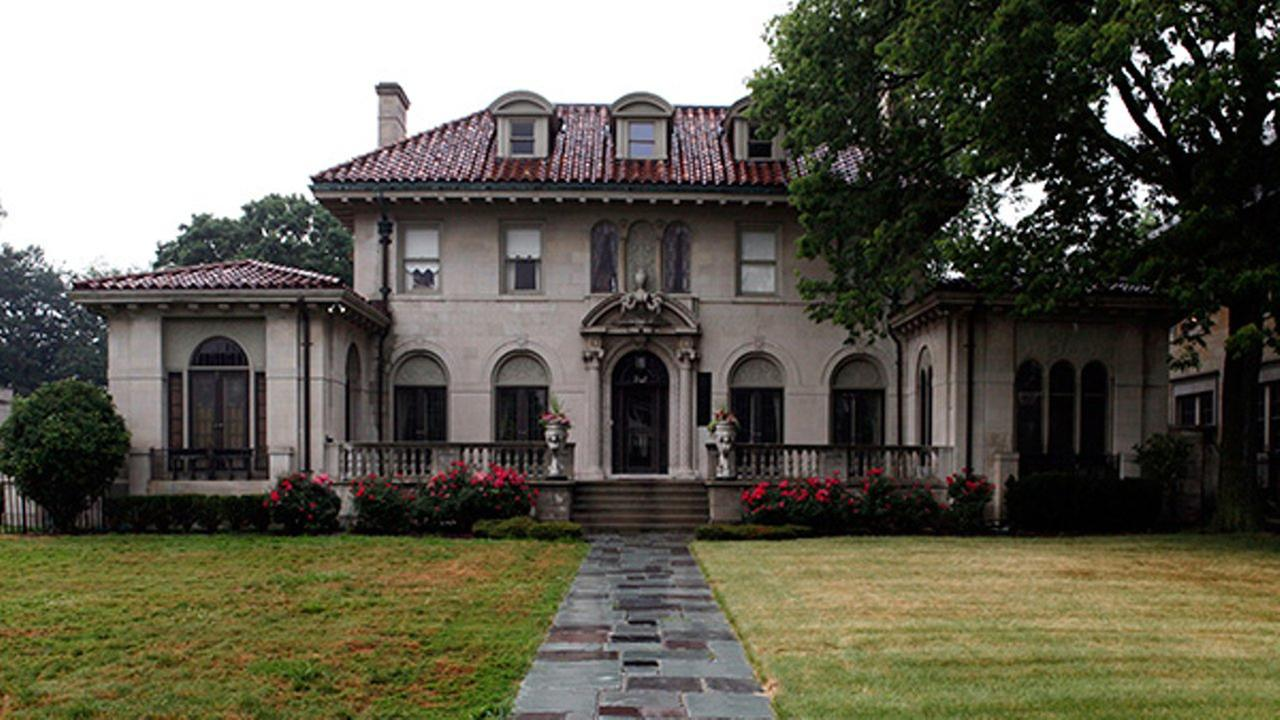 A Detroit mansion once owned by Motown Records founder Berry Gordy Jr. is shown in Detroit, Thursday, July 8, 2010.
