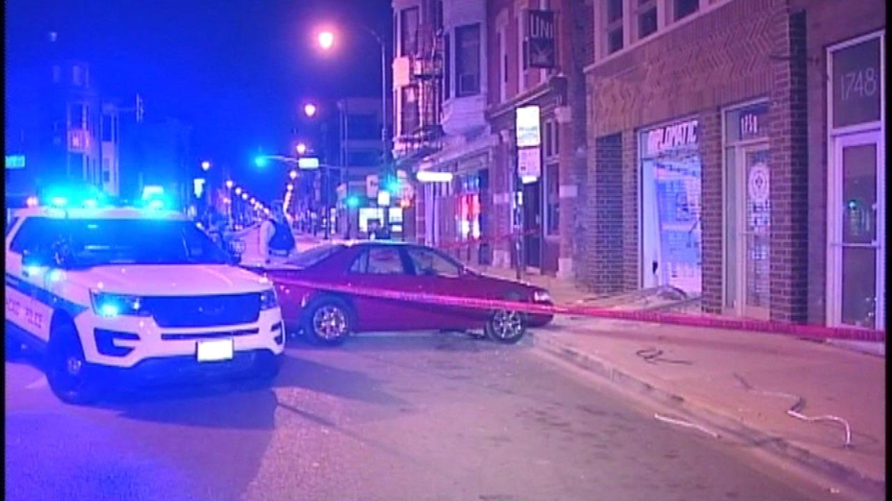 Burglars used a car to break into a store in the 1700-block of West North Avenue Monday morning, police said.