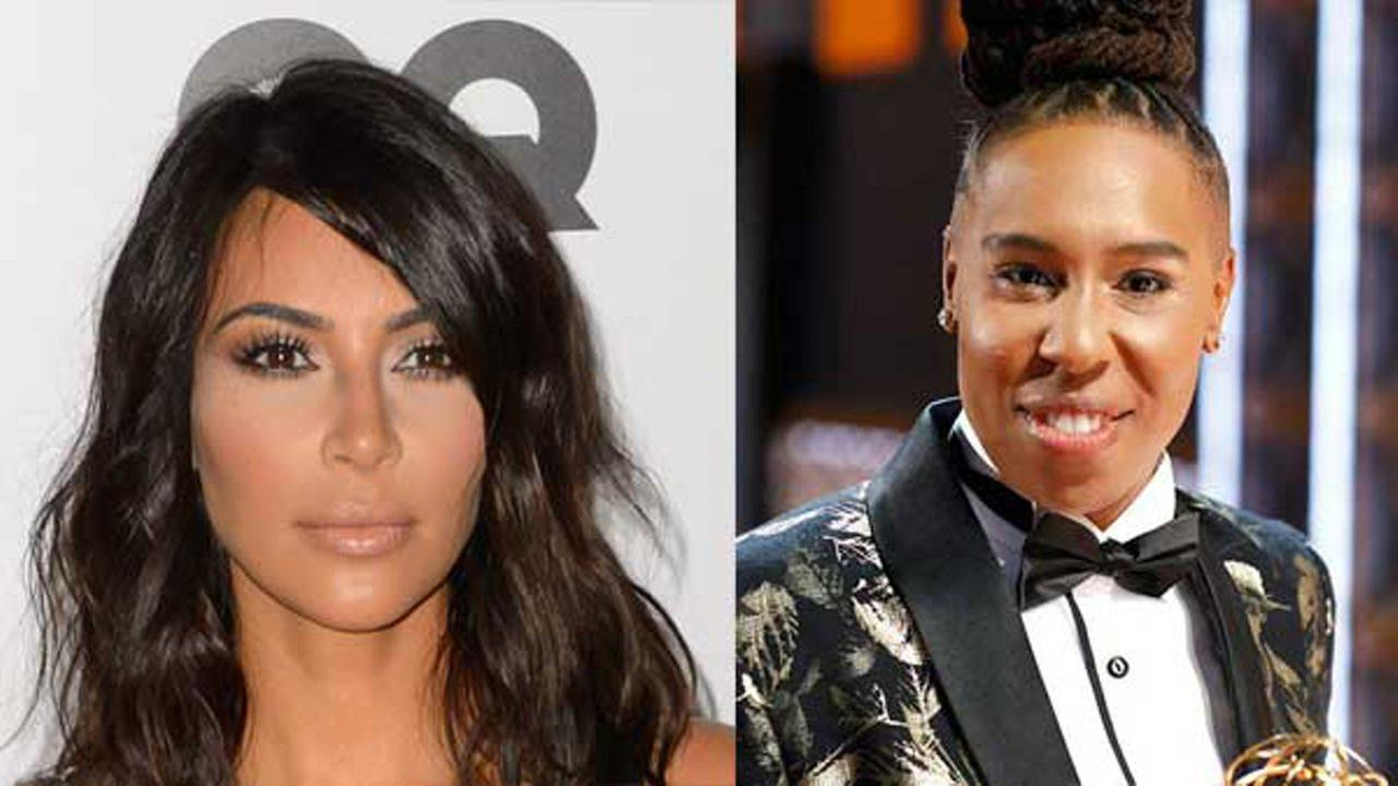 Kim Kardashian and Lena Waithe.