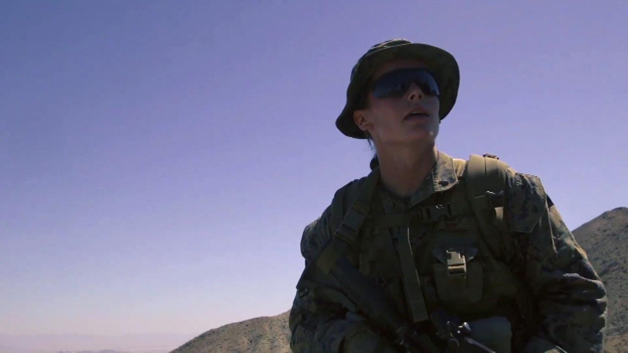1st-ever female US Marine Corps infantry officer graduates