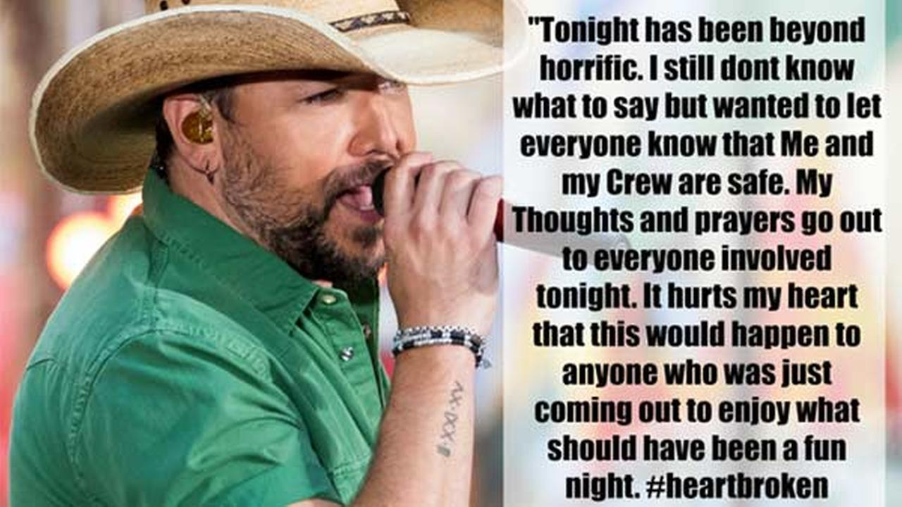 Las Vegas Shooting: Jason Aldean describes 'horrific' Mandalay Bay shooting