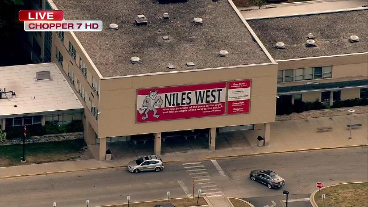 Niles West HS placed on lockdown after report of gun
