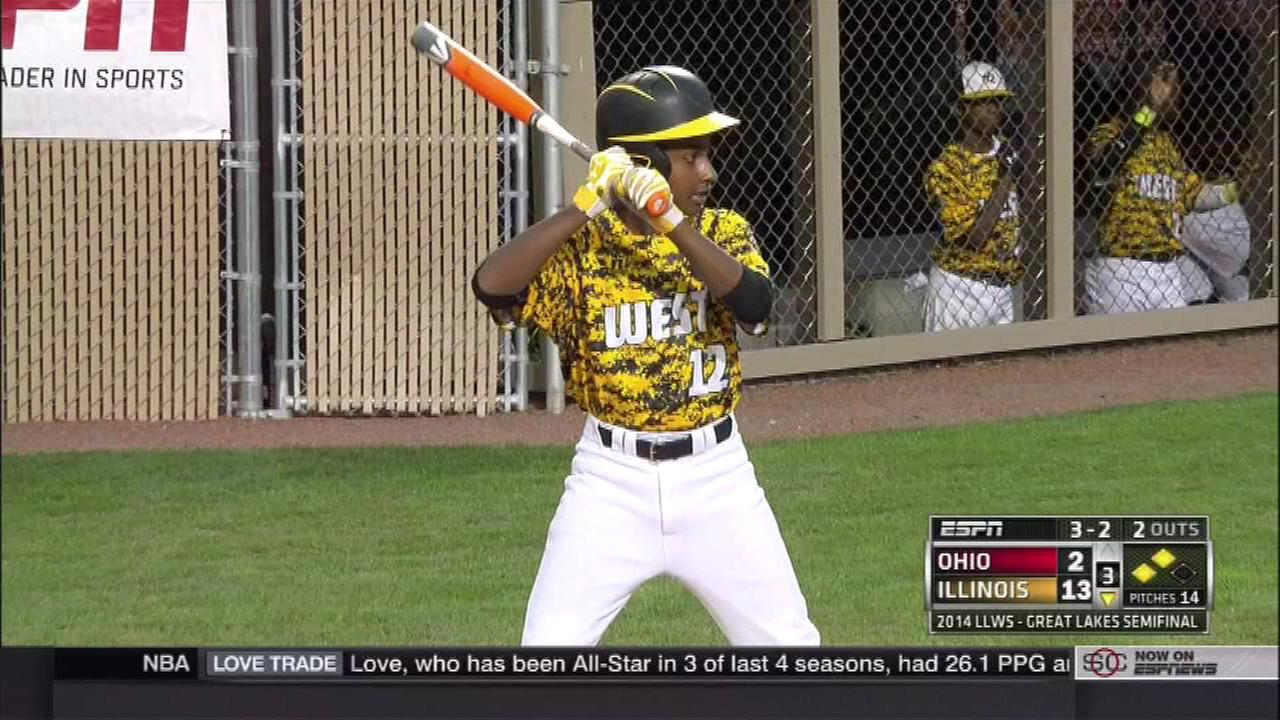 Jackie Robinson West pummeled the team from Canfield, Ohio, in their quest to make it to the Little League World Series.