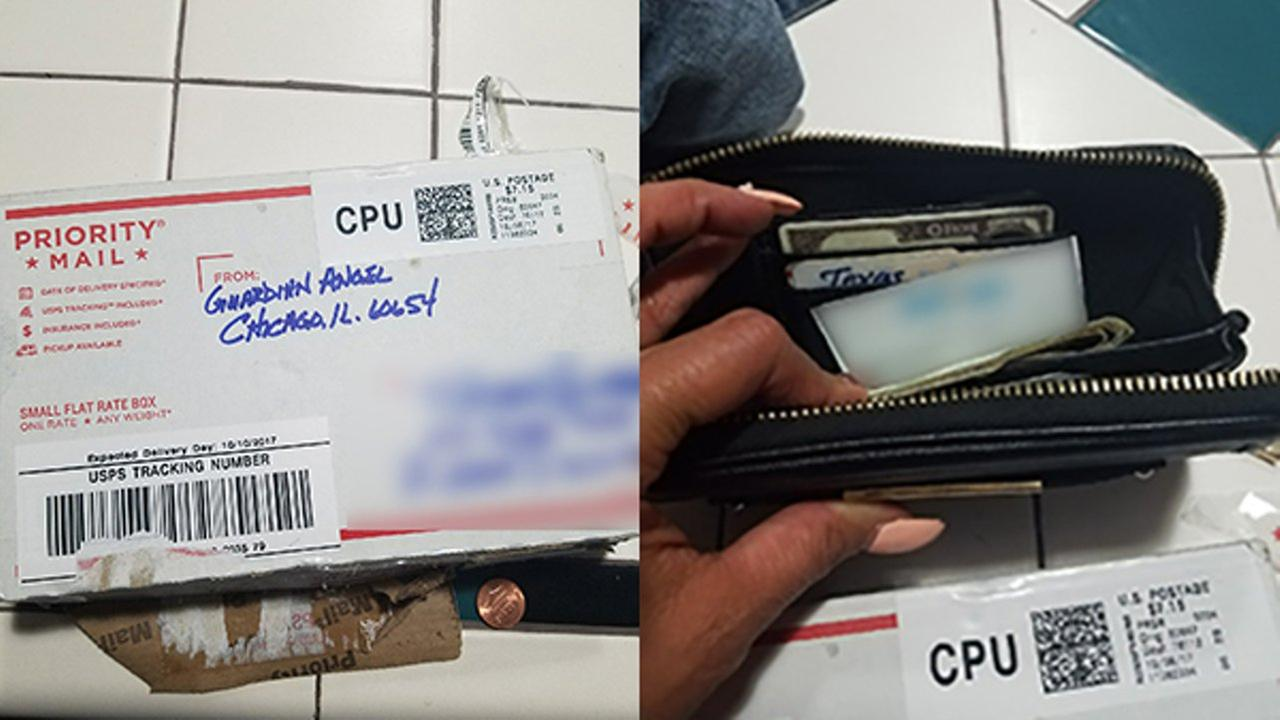 A Dallas, Texas woman is searching for the guardian angel in Chicago who returned her lost wallet.