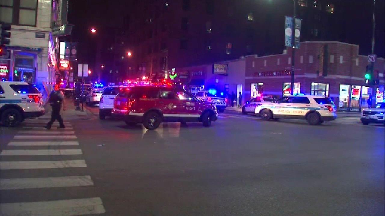 Three people were wounded in a shooting inside a restaurant in the 800-block of West Jackson Boulevard Saturday morning.