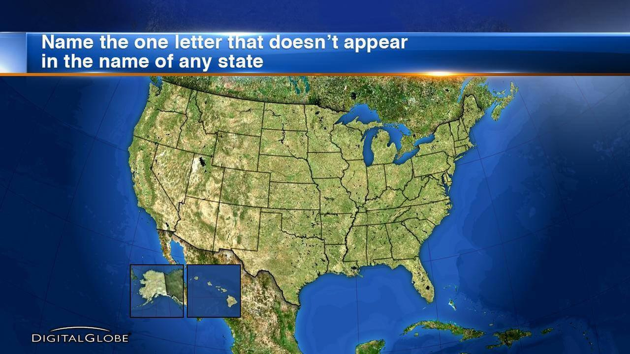 Tuesday Trivia: What letter doesn't appear in the name of any US state?