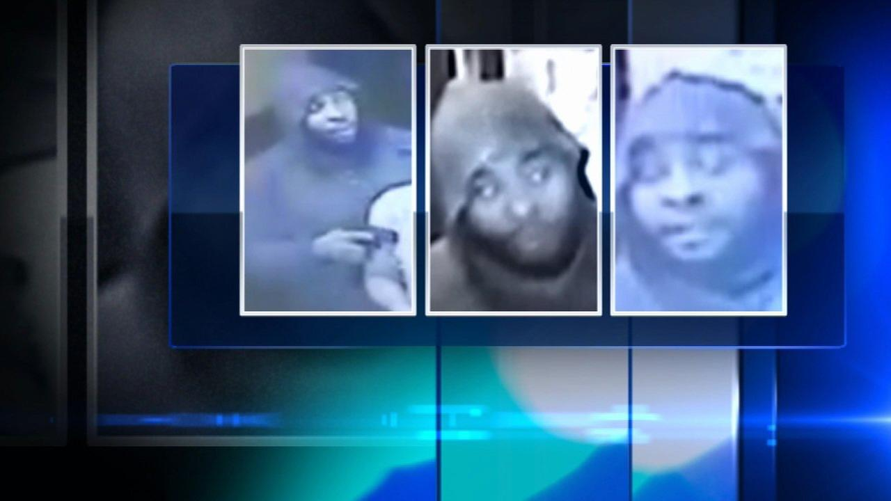 Surveillance images of a suspect in robberies at businesses in Lincoln Park.