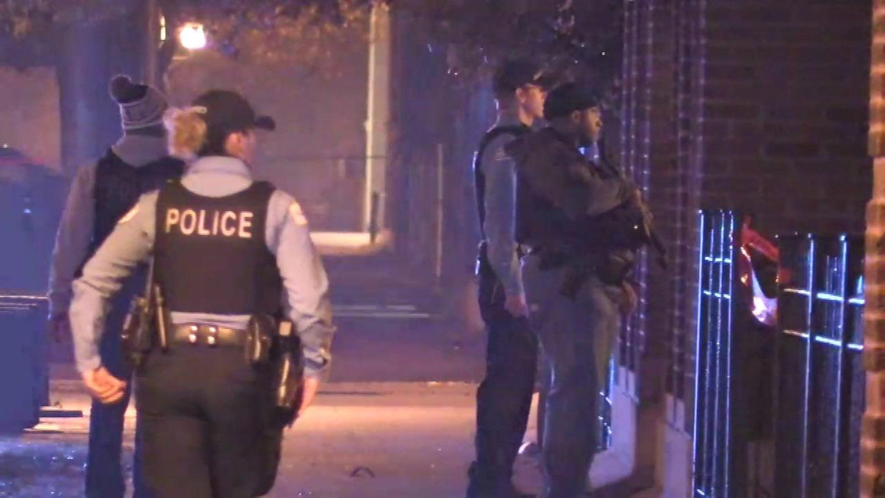Chicago police investigate after officers were involved in a shooting with a suspect in the 6700-block of South East End Avenue Sunday morning.