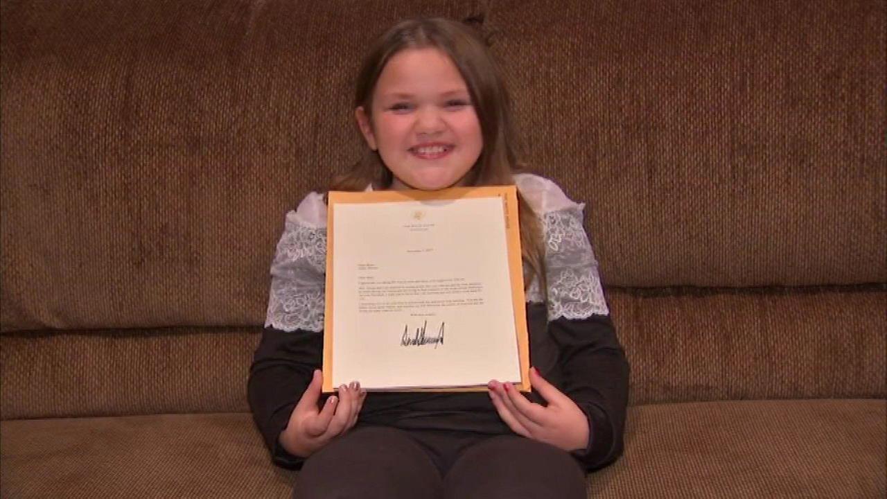 Joliet girl writes president, receives letter back