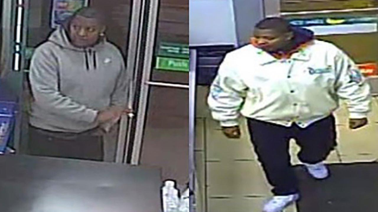 Surveillance images of a suspect in three robberies in the Loop.