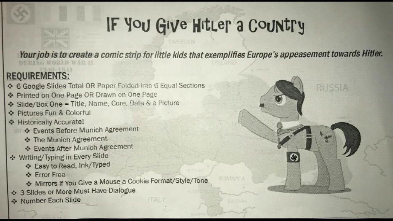Gurnee parents upset by middle school's Hitler homework