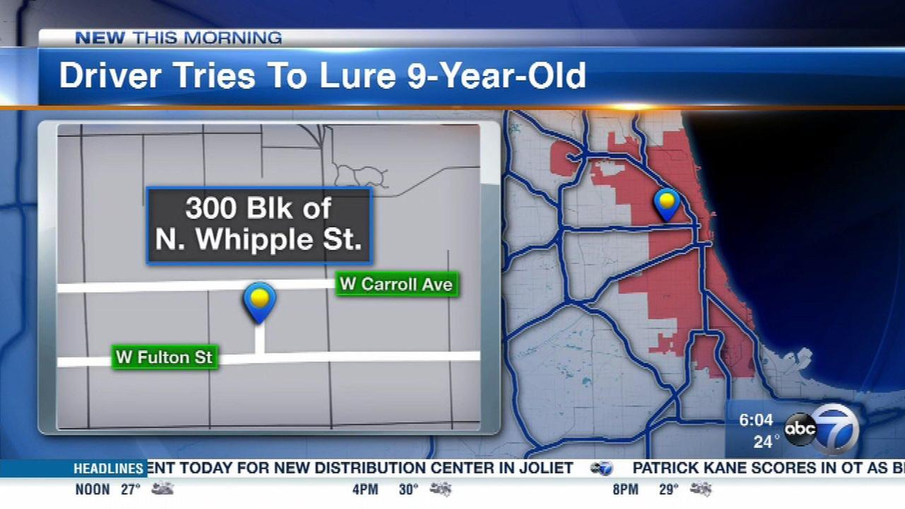 Man tries to lure 9-year-old girl into SUV in East Garfield Park