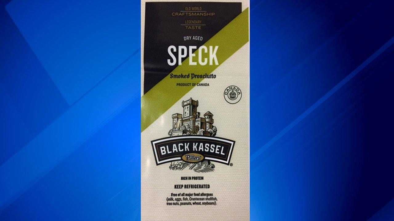 Pillers Fine Foods is recalling Black Kassel Pillers Dry Aged Speck Smoked Prosciutto over possible salmonella contamination.