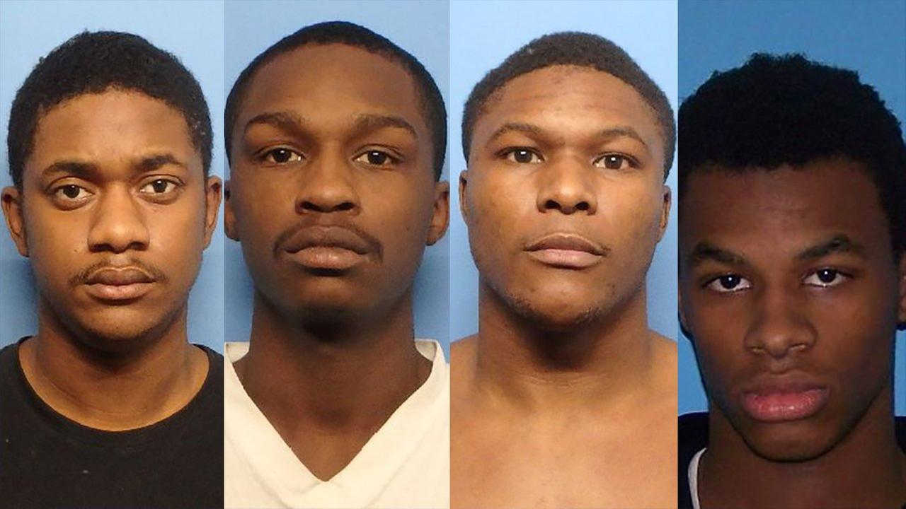 From right to left: Octavis Jones, Shajuan Garrett, Gerard Wade and Rashaan Wade.