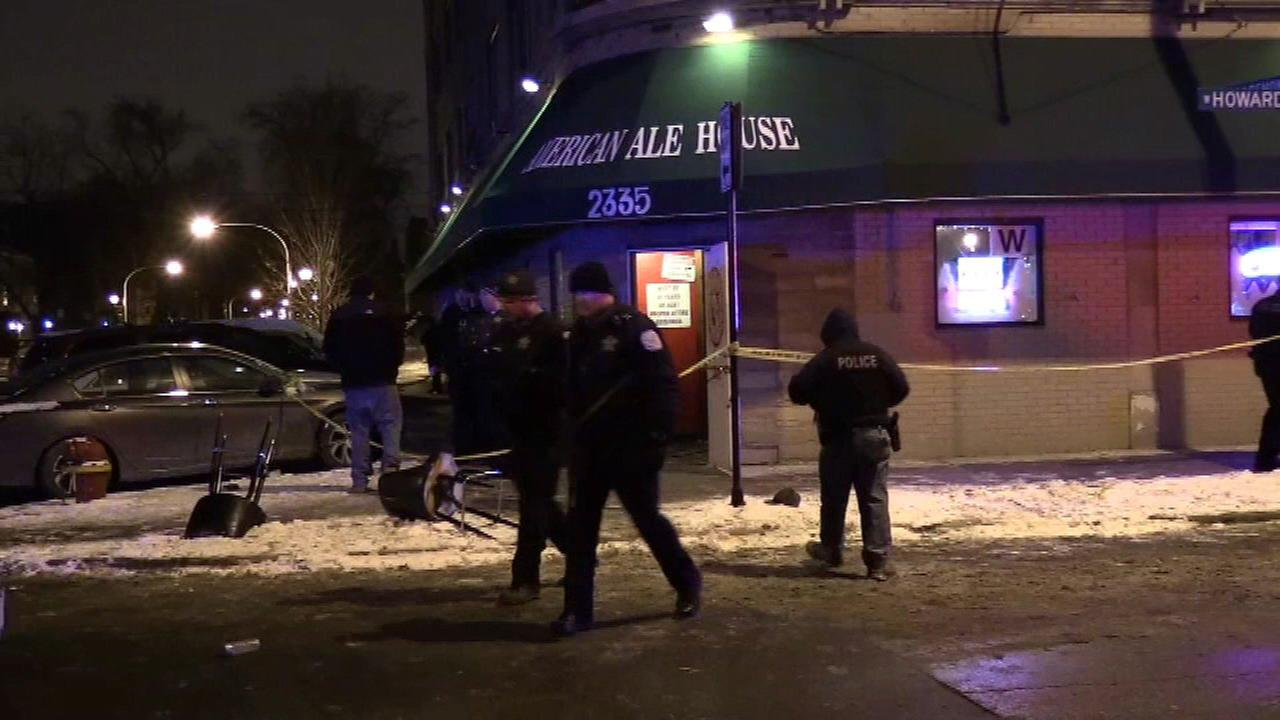Four people were wounded after a shooting at the American Ale House Sunday morning.