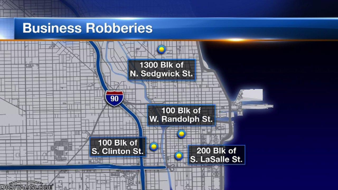 Police: Armed robbers targeting downtown cellphone stores