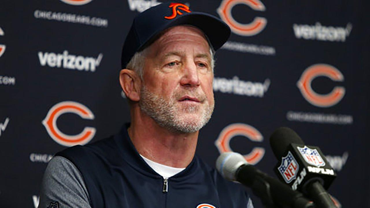 Chicago Bears head coach John Fox speaks during a news conference after an NFL football game against the Minnesota Vikings, Sunday, Dec. 31, 2017, in Minneapolis.