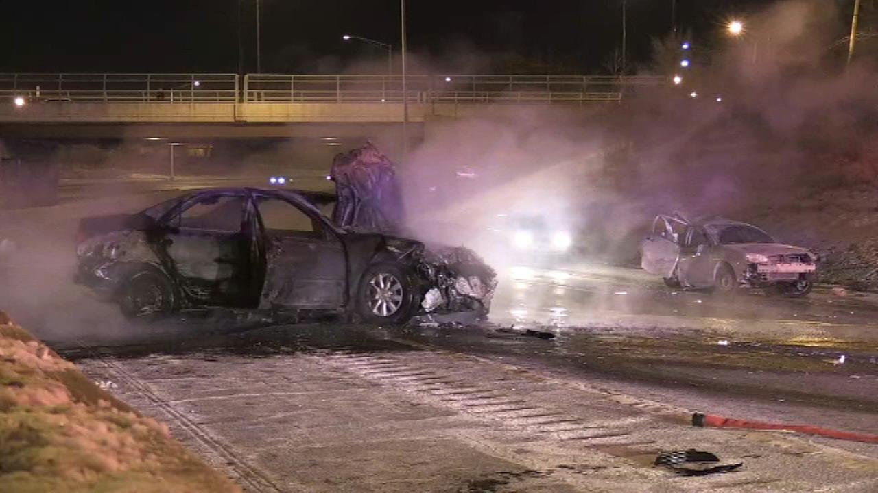 One person was injured after a crash on I-57 near 99th Street Saturday morning.