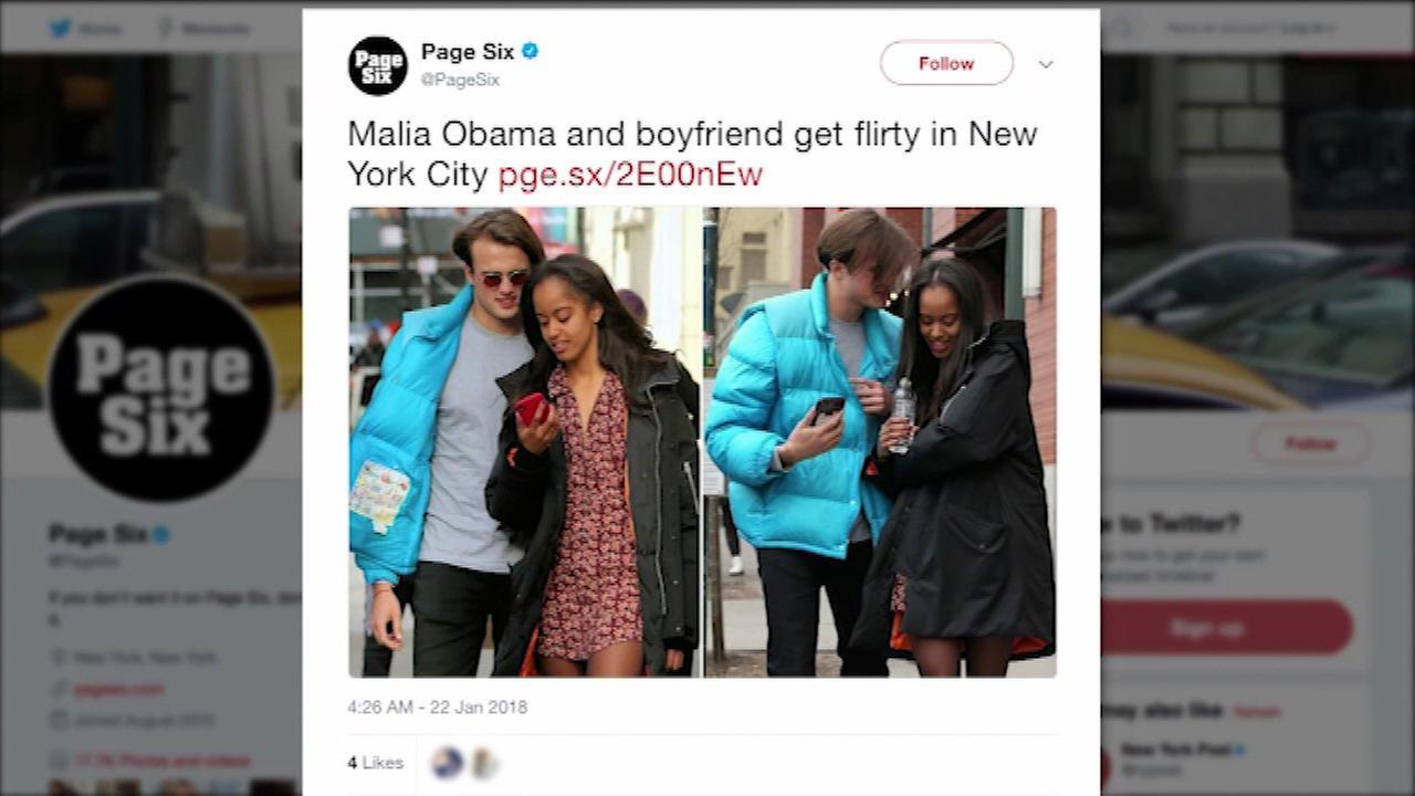 Malia Obama spotted with new British boyfriend in New York