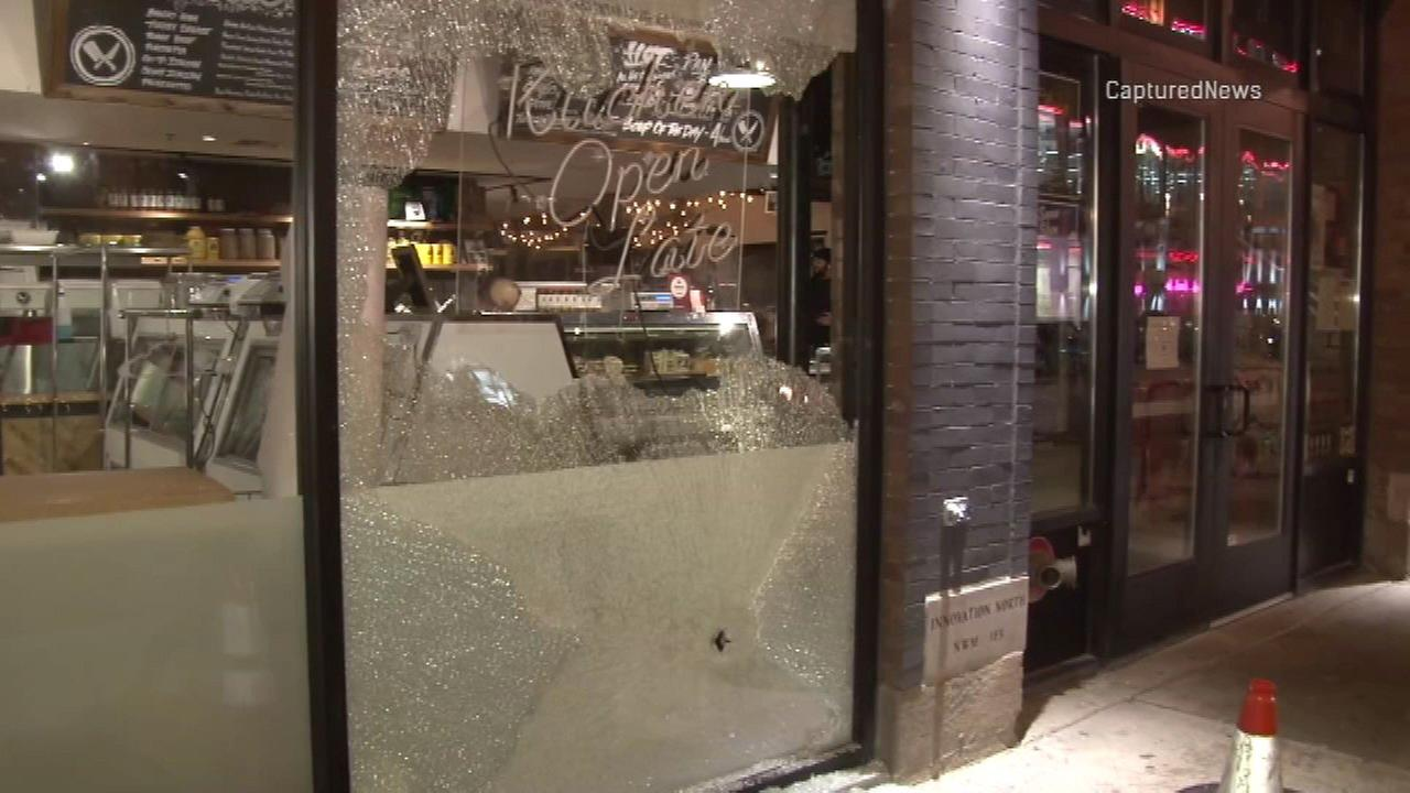 The Chop Shop bar in Wicker Park was hit by bullets Thursday night.