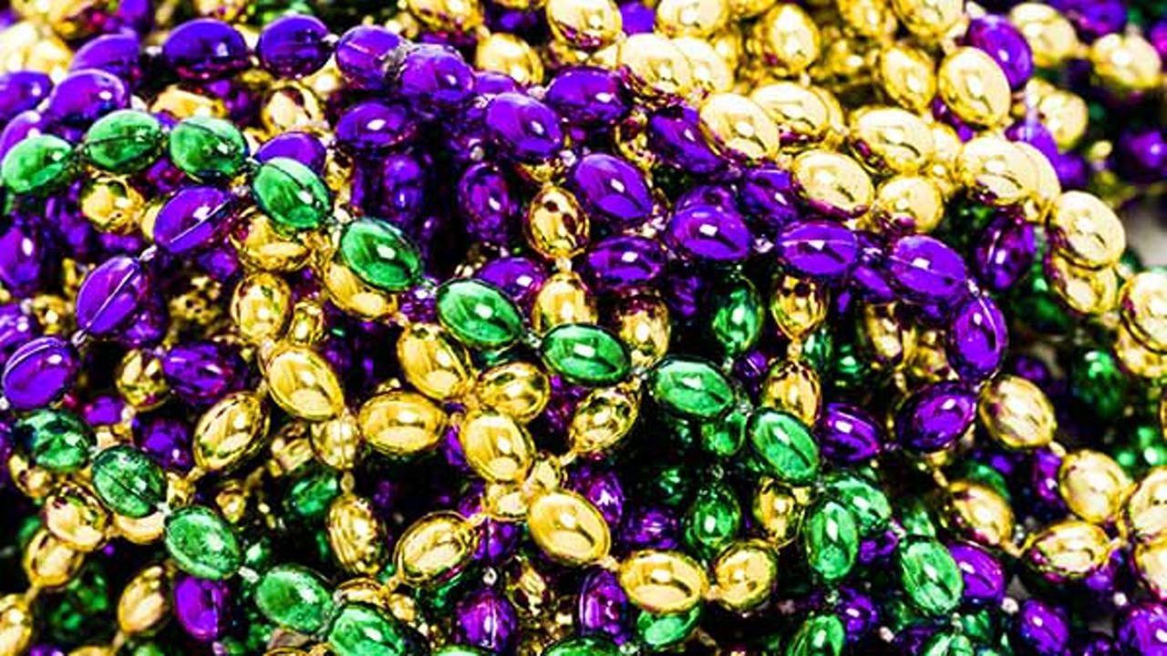 FILE: Mardi Gras beads