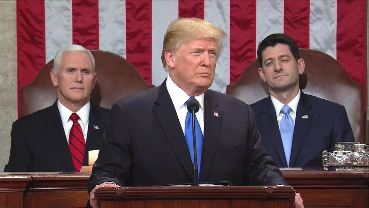 AP FACT CHECK: Trump's State of the Union stretches on taxes, energy