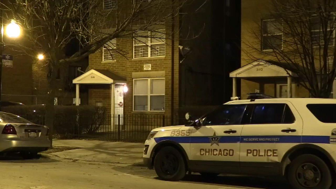 A 24-year-old woman was inside a bedroom when she was hit in the back by a bullet in the 2100-block of West Washington Boulevard Tuesday night, Chicago police said.