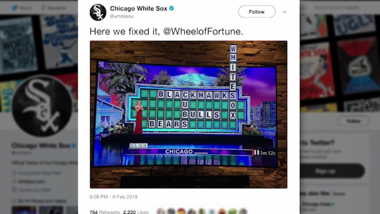 White Sox hit back at Wheel of Fortune after Chicago-themed puzzle snub