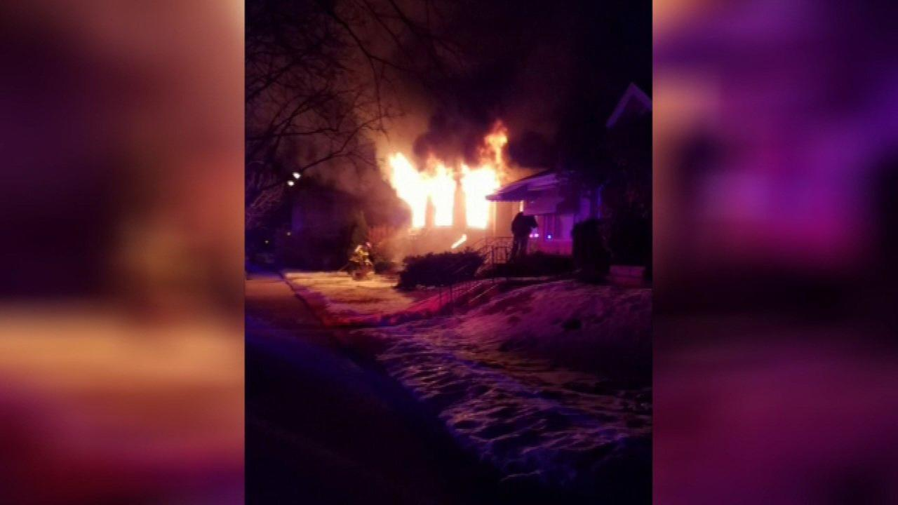 A house fire broke out Saturday on Tripp Avenue in Skokie.