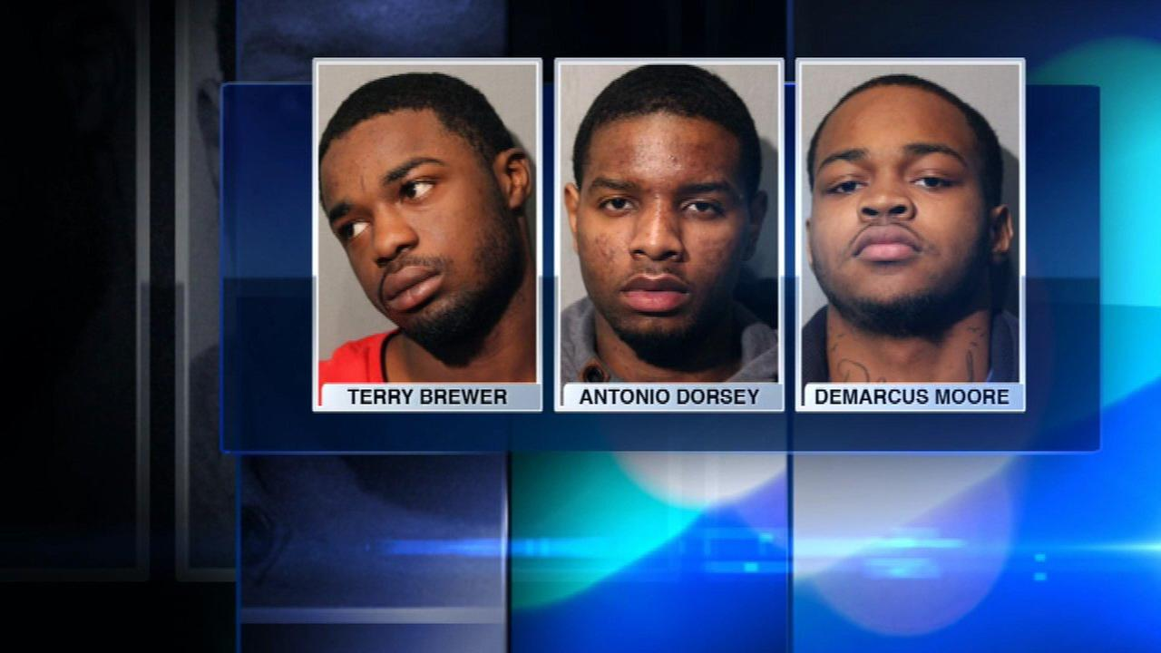 3 charged in armed robbery downtown