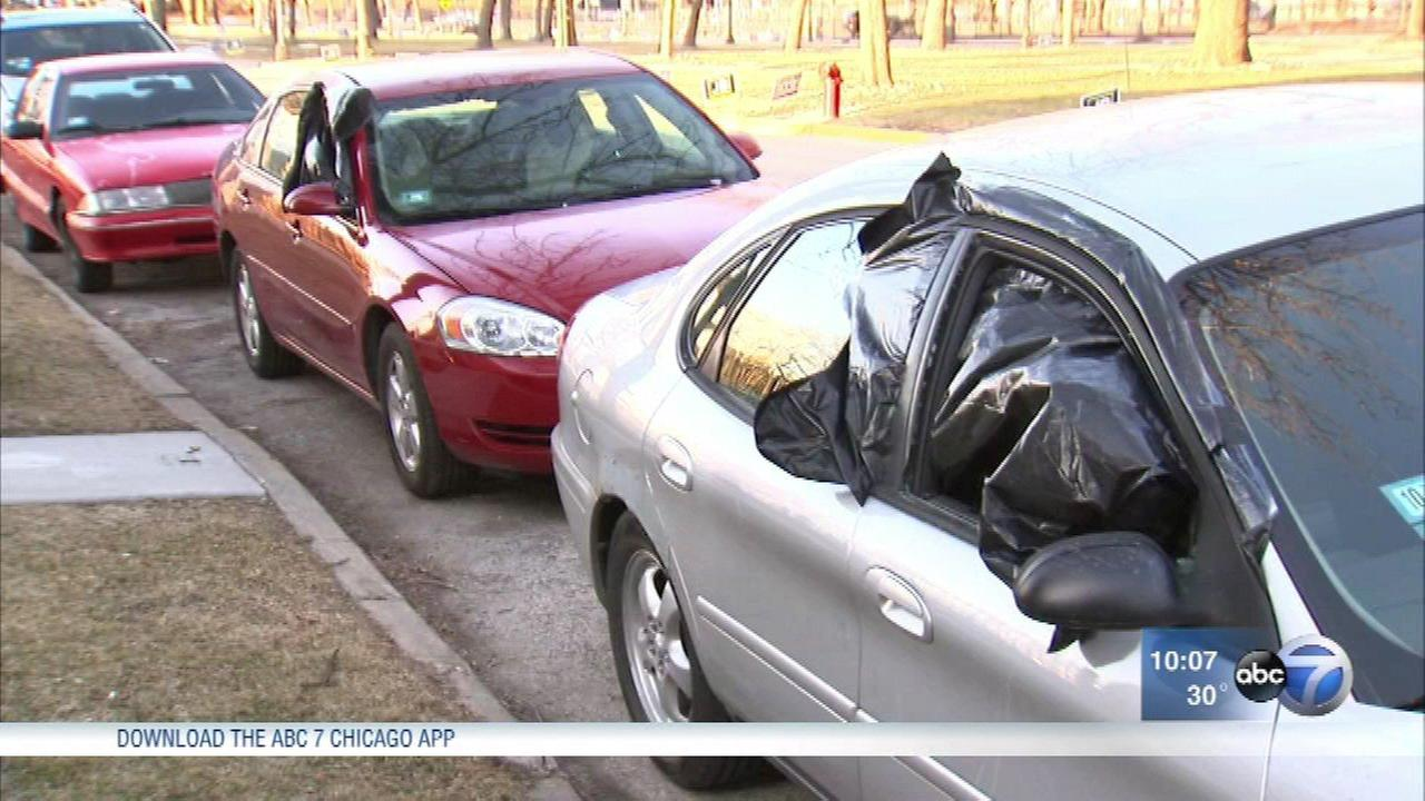15 cars were broken into in front of King College Prep High school in Bronzeville since March 3.