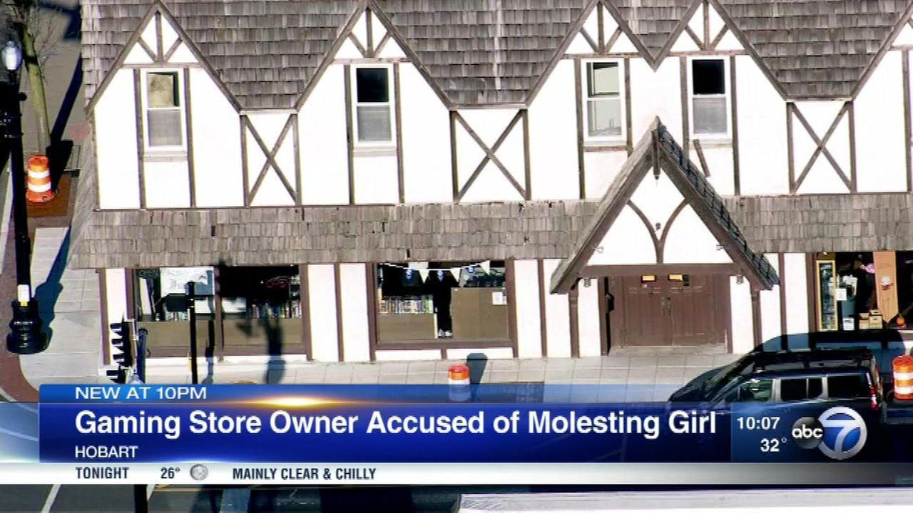 The owner of Games Inn in Hobart, Ind., is accused of molesting a teenage girl for over a year.
