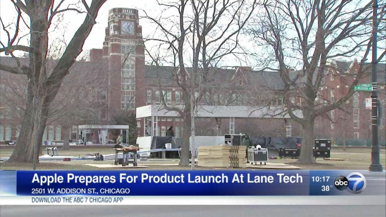 Apple plans to unveil its newest product at Lane Tech High School Tuesday.