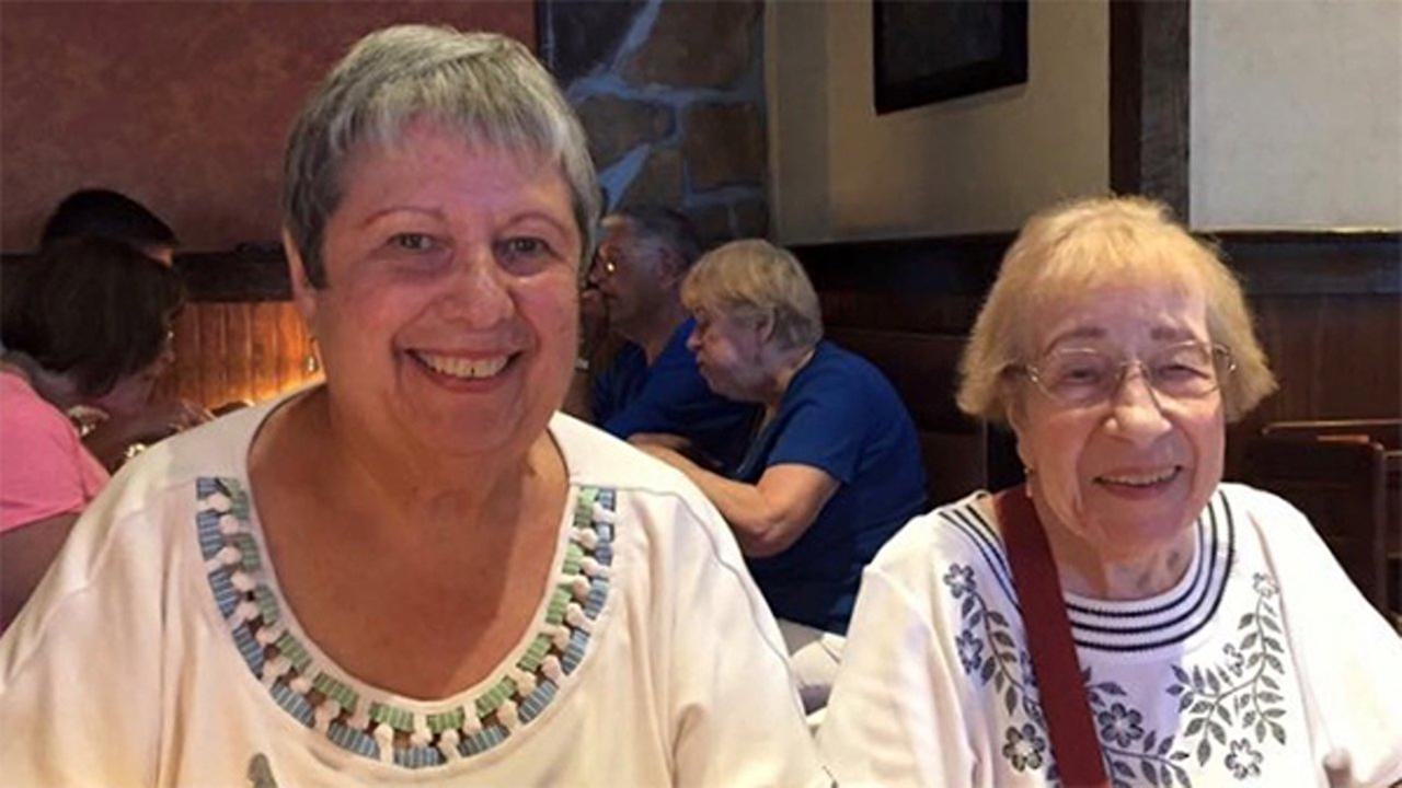 Dolores Sobczak, 76, (left) and her mother Johanna Kazak, 97.