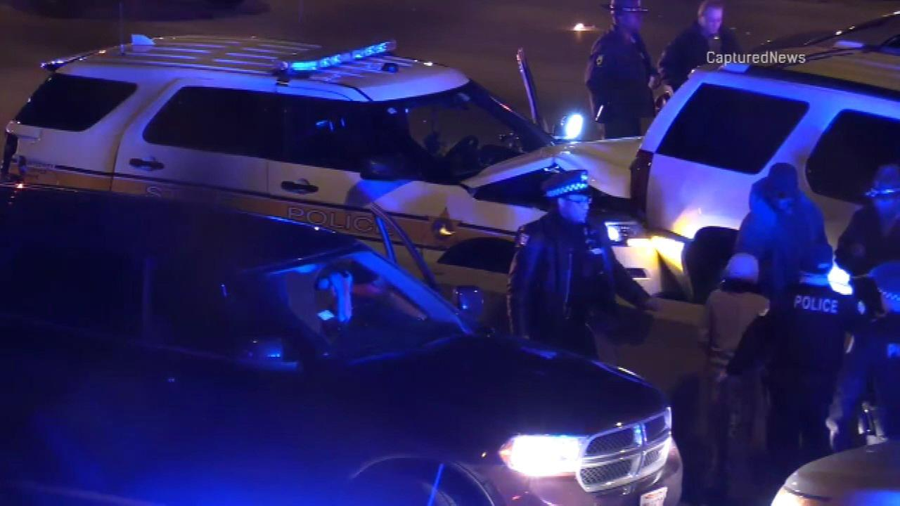 Illinois State Trooper injured in multi-vehicle Dan Ryan accident