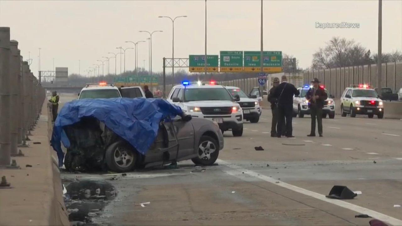 IDOT workers pull victims from fiery, deadly South Holland crash