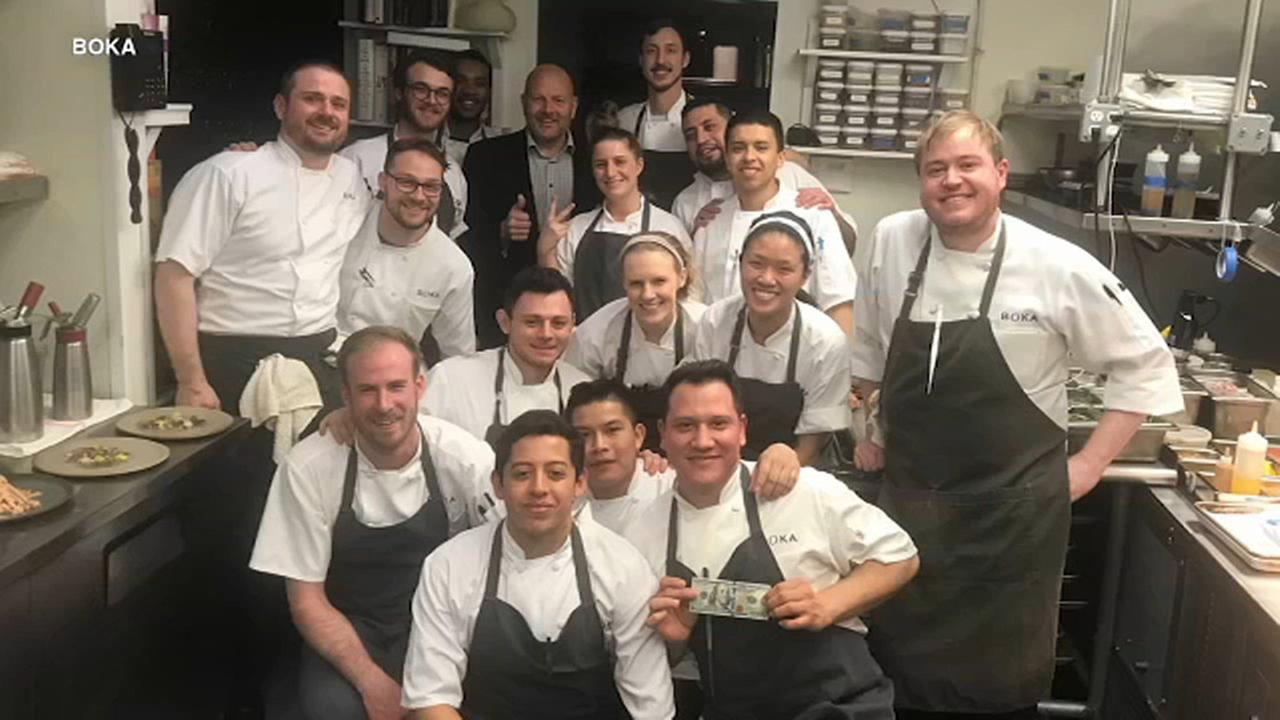 Diner leaves $2000 tip at Boka restaurant in Chicago