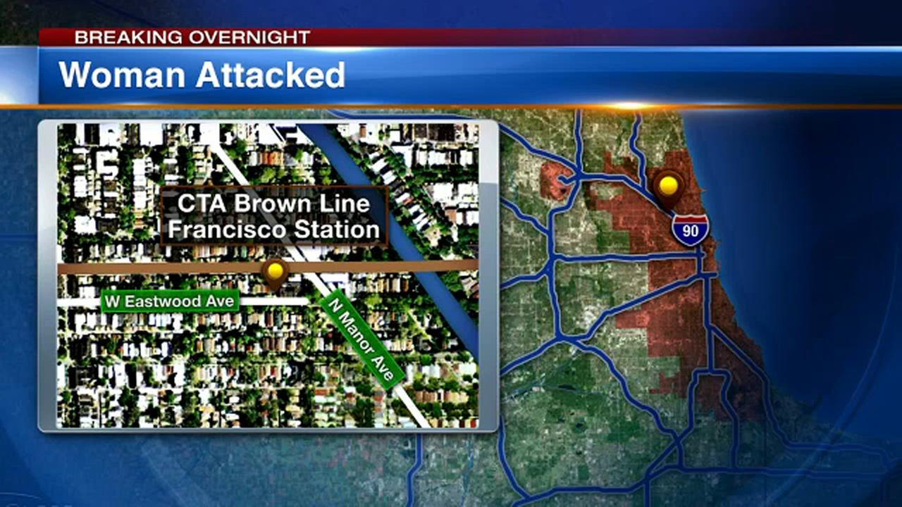 Chicago police said a woman was sexually abused and robbed on a CTA Brown Line platform Thursday night.