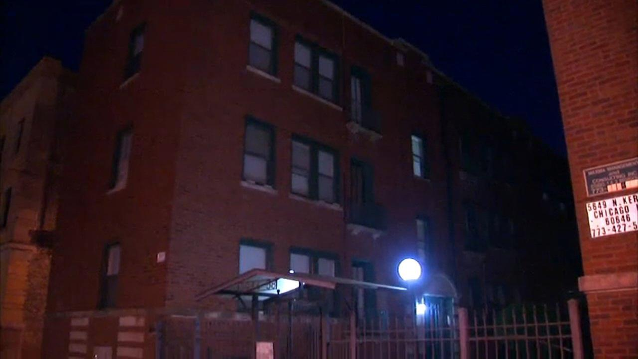 Chicago police said a woman was sexually assaulted at a Lakeview apartment building Thursday night.