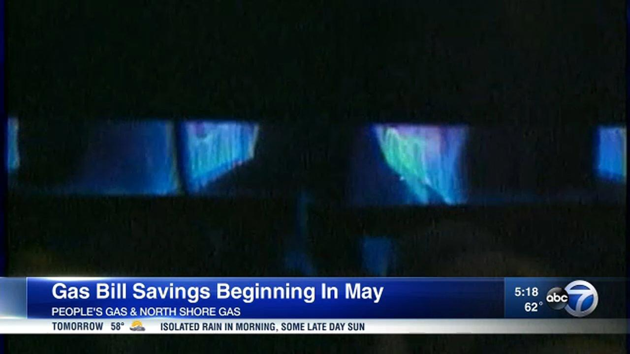 Peoples Gas and North Shore Gas customers will see a slight discount on their bills beginning in May.