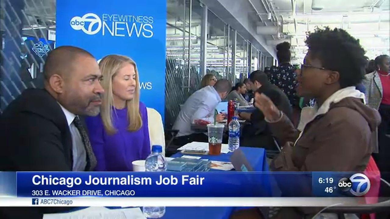 Nearly 100 aspiring journalists attended the Chicago Journalism Job Fair Saturday.