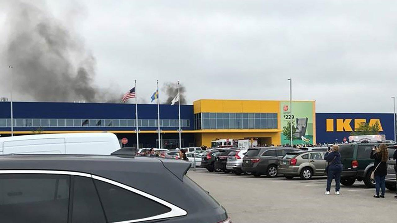 fire breaks out at ikea in bolingbrook. Black Bedroom Furniture Sets. Home Design Ideas